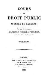 Cours de droit public interne et externe: Du droit public externe, ou droit des gens, Volume2