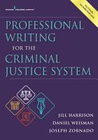 Professional Writing for the Criminal Justice System PDF