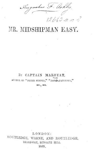 Download Mr  Midshipman Easy Book