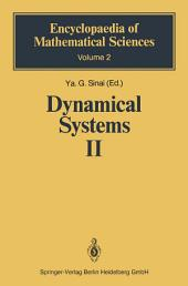 Dynamical Systems II: Ergodic Theory with Applications to Dynamical Systems and Statistical Mechanics