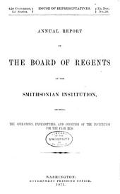 Report of the Board of Regents: Volume 21; Volume 1870