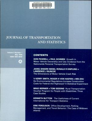 Journal of Transportation and Statistics PDF