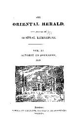 Oriental Herald & Journal of General Literature: Volume 11