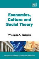 Economics  Culture and Social Theory PDF