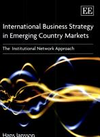 International Business Strategy in Emerging Country Markets PDF