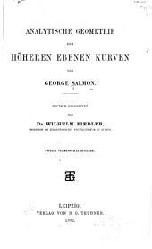 Analytische Geometrie der höheren ebenen Kurven