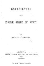 Experiences of an English Sister of Mercy