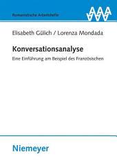 Konversationsanalyse: Eine Einführung am Beispiel des Französischen