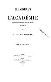 Mémoires: Volumes19à20