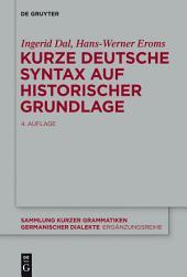 Kurze deutsche Syntax auf historischer Grundlage: Ausgabe 4