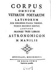 Astronomia: ¬Li Primi Tre Libri, Volume 1