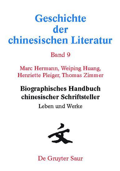 Biographisches Handbuch chinesischer Schriftsteller PDF