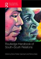 Routledge Handbook of South South Relations PDF