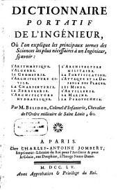 Dictionnaire portatif de l'ingénieur...