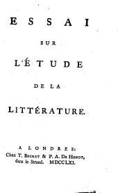 Essai sur l'étude de la littérature