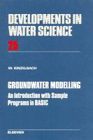Groundwater Modelling PDF