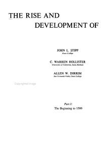 The Rise and Development of Western Civilization  The beginning to 1500 PDF