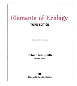 Elements of Ecology PDF