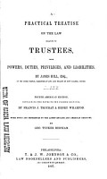 A Practical Treatise on the Law Relating to Trustees PDF