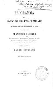 Programma del corso di diritto criminale: parte generale