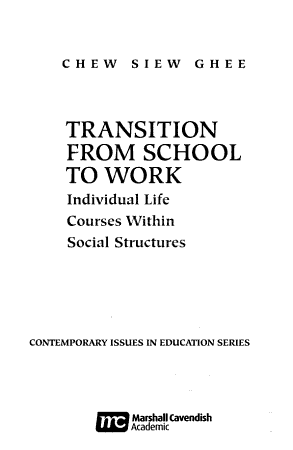 Transition from School to Work PDF