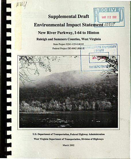 New River Parkway  I 64 Interchange to Hinton  Raleigh and Summers Counties PDF