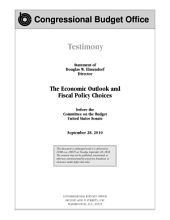 Economic Outlook and Fiscal Policy Choices: Congressional Testimony