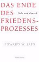 Das Ende des Friedensprozesses PDF