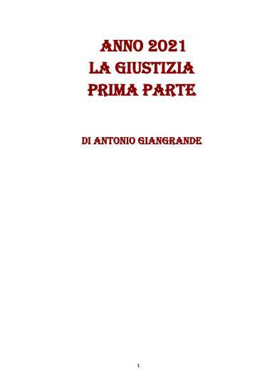 ANNO 2021 LA GIUSTIZIA PRIMA PARTE PDF
