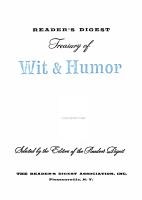 Reader s Digest Treasury of Wit   Humor PDF