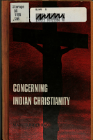 Concerning Indian Christianity PDF
