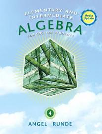 Elementary Intermediate Algebra For College Students Media Update