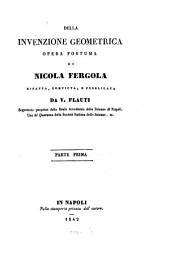 Raccolta di opuscoli matematici: Della invenzione Geometrica, Volume 2
