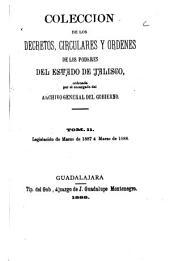 Coleccion de los decretos, circulares y ordenes de los poderes legislativo y ejecutivo del estado de Jalisco ...: Comprende la legislación del estado desde octubre de 1860, en que triunfó en Jalisco la revolución de reforma, hasta ..., Volumen 11
