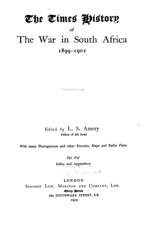 The Times History of the War in South Africa PDF