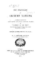 "The Chronology of Ancient Nations: An English Version of the Arabic Text of the Athâr-ul-Bâkiya of Albîrûnî, Or ""Vestiges of the Past"""