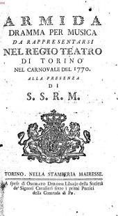 Armida: dramma per musica da rappresentarsi nel regio teatro di Torino nel carnovale del 1770