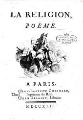 La religion, poème[Jean Racine!