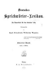 Deutsches sprichwörter-lexikon: Band 2