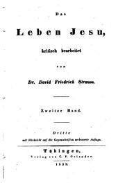 Das Leben Jesu: kritisch bearbeitet, Band 2
