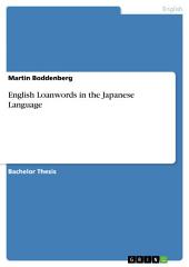 English Loanwords in the Japanese Language