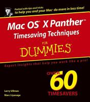 Mac OS X Panther Timesaving Techniques For Dummies PDF