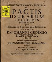 De pactis usurarum legitimis dissertatio