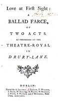 Love at First Sight  a Ballad Farce PDF