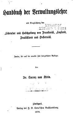 Handbuch der Verwaltungslehre PDF