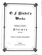 Georg Friedrich Händel's Werke: Psalmen : erster Band. 34