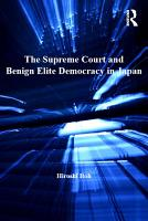 The Supreme Court and Benign Elite Democracy in Japan PDF