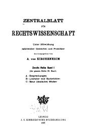 Zentralblatt der Rechtswissenschaft: Band 26
