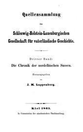 Die Chronik der nordelbischen Sassen
