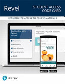 Revel for Starting Out With Python    Access Card PDF